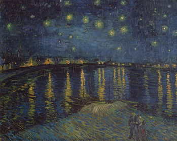 Canvas-taulu Starry Night over the Rhone, 1888
