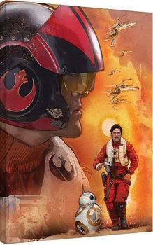Canvas-taulu Tähtien sota: Episodi VII – The Force Awakens - Poe Dameron Art