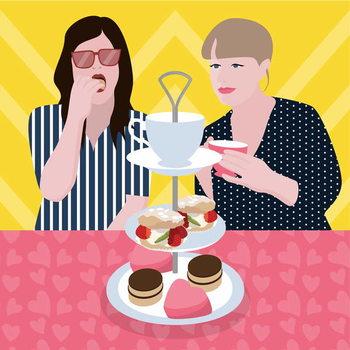 Canvas-taulu Tea Party