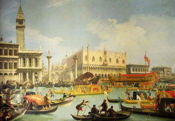 Canvas-taulu The Betrothal of the Venetian Doge to the Adriatic Sea