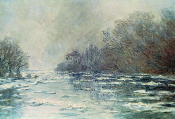 Canvas-taulu The Break up at Vetheuil, c.1883