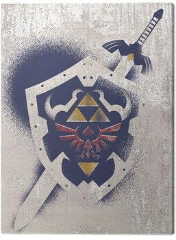The Legend Of Zelda - Hylian Shield Stencil Canvas-taulu