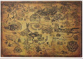 Canvas-taulu The Legend of Zelda - Hyrule Map