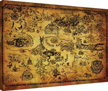 The Legend Of Zelda - Hyrule Map Canvas-taulu