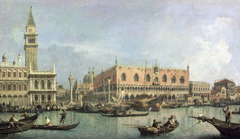Canvas-taulu The Molo and the Piazzetta San Marco, Venice