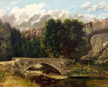 Canvas-taulu The Pont de Fleurie, Switzerland, 1873