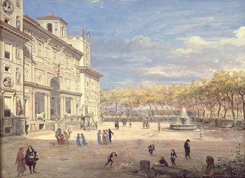 Canvas-taulu The Villa Medici, Rome, 1685