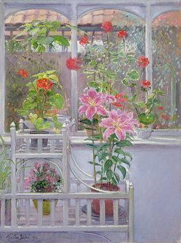 Canvas-taulu Through the Conservatory Window, 1992