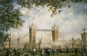 Canvas-taulu Tower Bridge: From the Tower of London