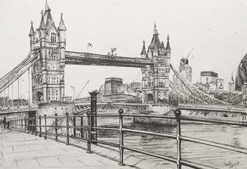 Tower Bridge London, 2006, Canvas-taulu