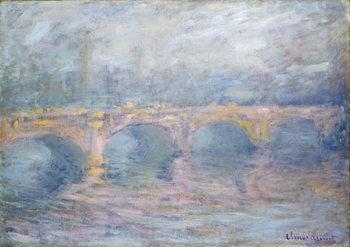 Canvas-taulu Waterloo Bridge, London, at Sunset, 1904