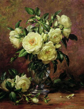 Canvas-taulu White Roses