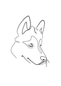 Canvas-taulu Wolf