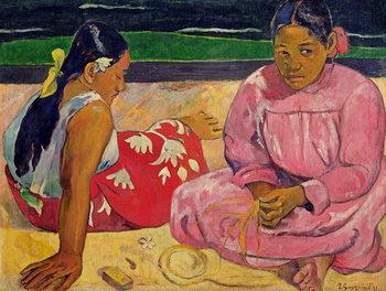 Canvas-taulu Women of Tahiti, On the Beach, 1891