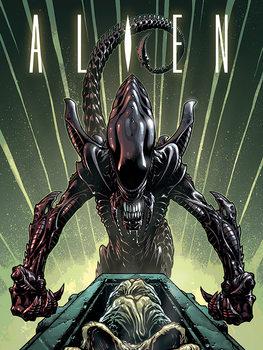 Alien - Green Canvas-taulu