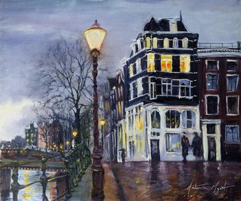 At Dusk, Amsterdam, 1999 Canvas-taulu