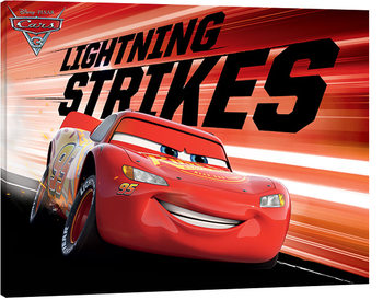 Autot 3 - Lightning Strikes Canvas-taulu