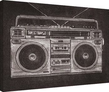Barry Goodman - Ghetto Blaster Canvas-taulu