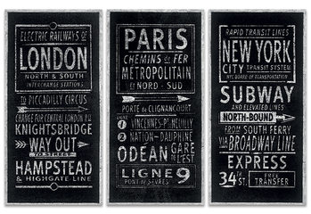 Barry Goodman - London Paris New York Canvas-taulu