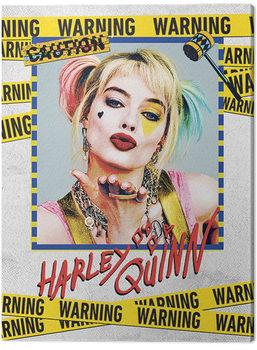 Birds Of Prey: And the Fantabulous Emancipation Of One Harley Quinn - Harley Quinn Warning Canvas-taulu