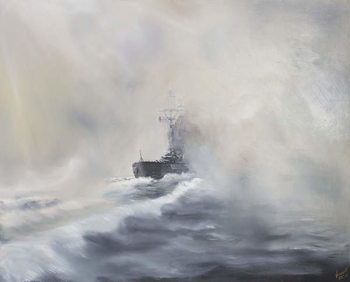 Bismarck evades her persuers May 25th 1941, 2005, Canvas-taulu