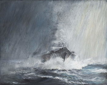 Bismarck 'through curtains of Rain Sleet & Snow' 22/05/1941. 2007, Canvas-taulu