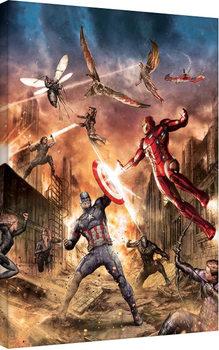 Captain America: Civil War - Group Fight Canvas-taulu
