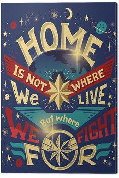 Captain Marvel - Home Canvas-taulu