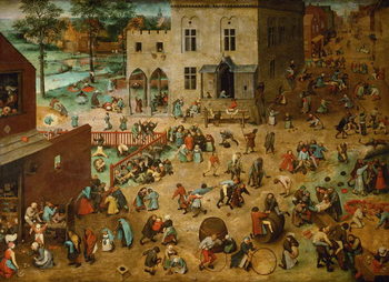 Children's Games, 1560 Canvas-taulu