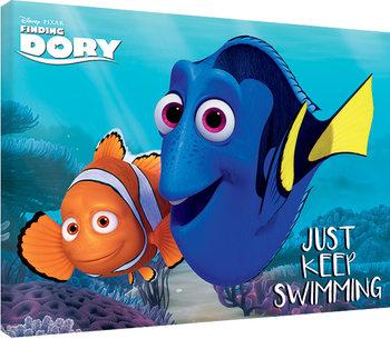 Doria etsimässä - Just Keep Swimming Canvas-taulu