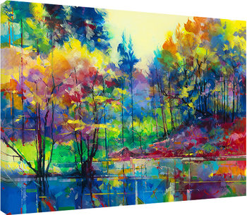 Doug Eaton - Meadowcliff Pond Canvas-taulu