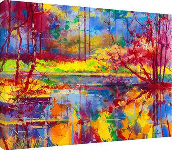 Doug Eaton - Reflections at Meadowcliff Canvas-taulu