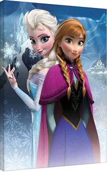 Frozen: huurteinen seikkailu - Anna & Elsa Canvas-taulu