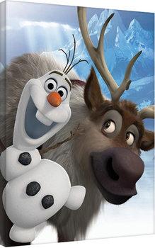 Frozen: huurteinen seikkailu - Olaf & Sven Canvas-taulu