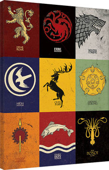 Game of Thrones - Sigils Canvas-taulu
