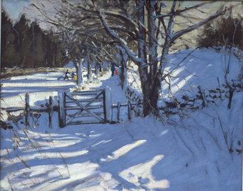 Gate near Youlgreave, Derbyshire Canvas-taulu