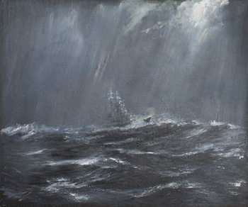 Gneisenau in a Storm North Sea 1940, 2006, Canvas-taulu