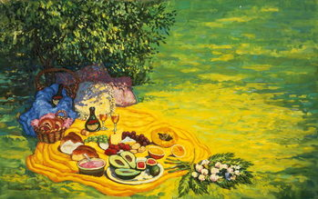 Golden Picnic, 1986 Canvas-taulu