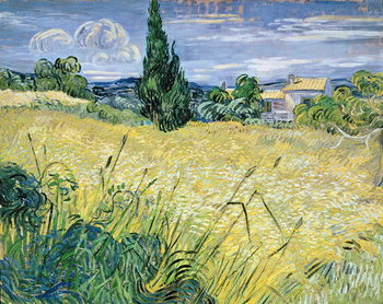 Green Wheatfield with Cypress, 1889 Canvas-taulu