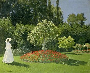 Jeanne Marie Lecadre in the Garden, 1866 Canvas-taulu
