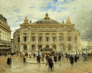 L'Opera, Paris, c.1900 Canvas-taulu