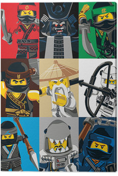 Lego Ninjago Elokuva - Colour Blocks Canvas-taulu
