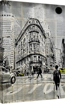 Loui Jover - Midtown Walk Canvas-taulu
