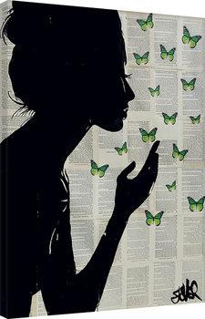 Loui Jover - Simplicity - Green Canvas-taulu