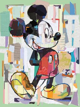 Mikki Hiiri (Mickey Mouse) - Office Decoupage Canvas-taulu
