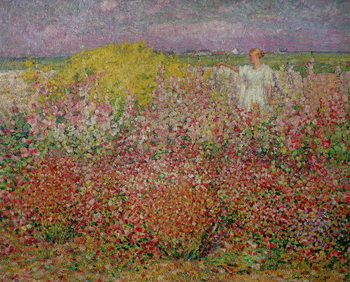 Mrs. Russell Amongst the Flowers at Belle Isle, 1927 Canvas-taulu