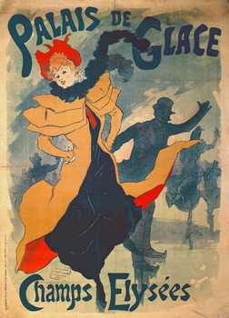 Poster advertising the Palais de Glace on the Champs Elysees Canvas-taulu