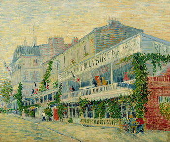 Restaurant de la Sirene at Asnieres, 1887 Canvas-taulu