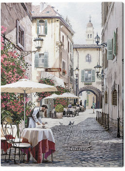 Richard Macneil - Cobbled Street Canvas-taulu