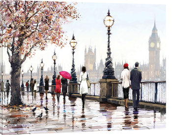 Richard Macneil - Thames View Canvas-taulu